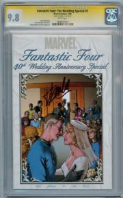 Fantastic Four The Wedding Special # 1 CGC 9.8 Signature Series Signed Stan Lee Marvel comic